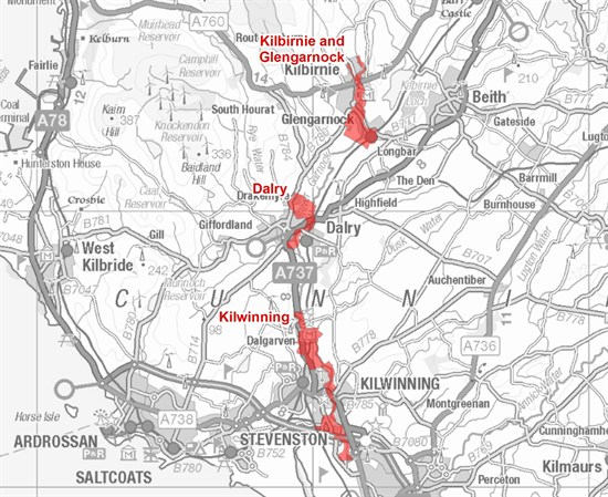 River Garnock Flood Warning Area